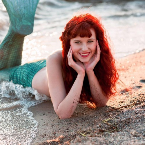 Ariel, the Little Mermaid. Hairstylist: Tracy Mellon. Photographer: Shaun Gour. Tail provided by: Anatoli Sviajine