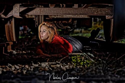 Modèle : Manon Couvelard. Photographe : Nicolas Claeyssen. Lieu : CMCF Oignies, Centre de la Mine et du Chemin de Fer. Event : Tchoutchou Shoot. Orga : EXIF 1/30