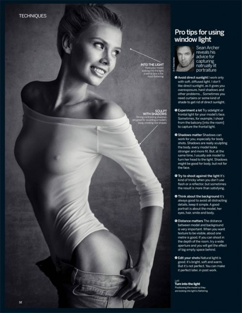 My tips for window light from latest Digital Photographer magazine)