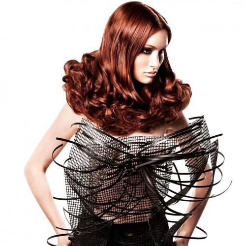 shooting, hairstyle, redhair, hairfiction, tecvolution, intercoiffure.  INTERCOIFFURE MONDIAL.