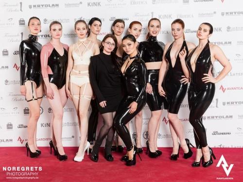 The beautiful Chronimaticbabes at Avantgardista right before the Chronomatic - Luxury Latex Wear fashion show