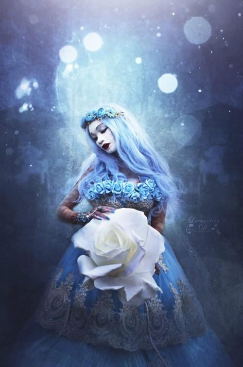 """Bonsoir les """"Artistocrates"""". La rose éternelle est à présent dans les bras de """"Fleur bleue"""". C'est la clé qui ouvre la porte des mondes oniriques, dans lesquels vont fleurir de nouvelles légendes Je vous souhaite une agréable soirée. Photographe: Lecavelier.D - Photographiquement."""